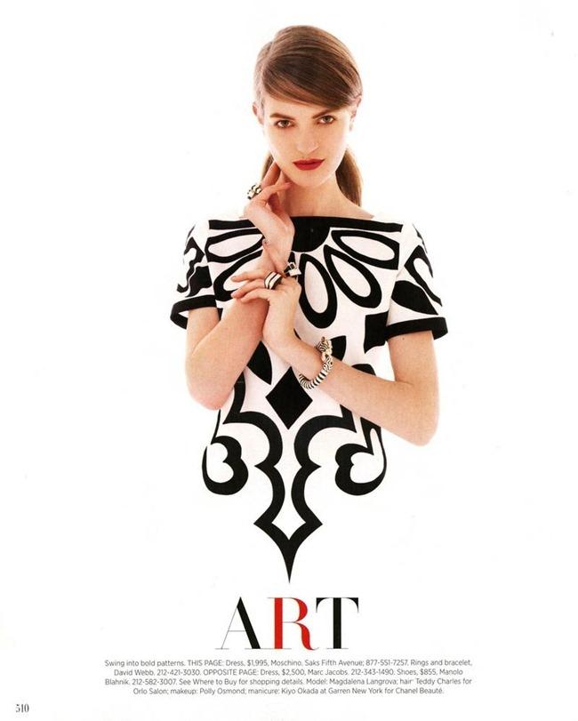 HARPER'S BAZAAR MAGAZINE- Magdalena Langrova in Pop Art by Victor Demarchelier. Joanna Hillman, March 2013, www.imageamplified.com, Image Amplified (2)