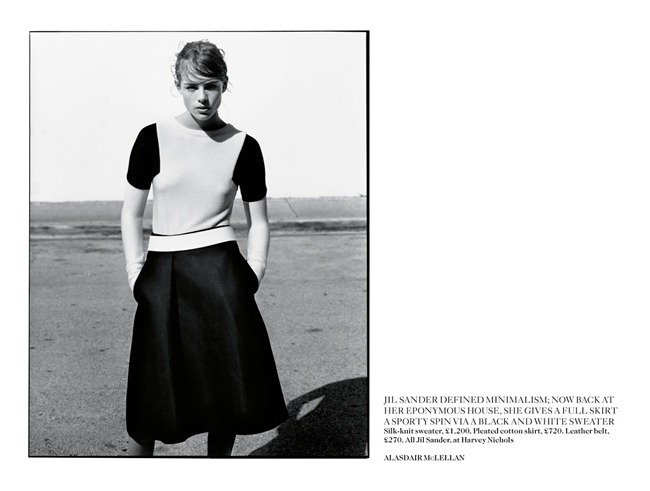 VOGUE UK- Rosie Tapner in In Glorious Mono by Alasdair Mclellan. Francesca Burns, March 2013, www.imageamplified.com, Image Amplified (6)