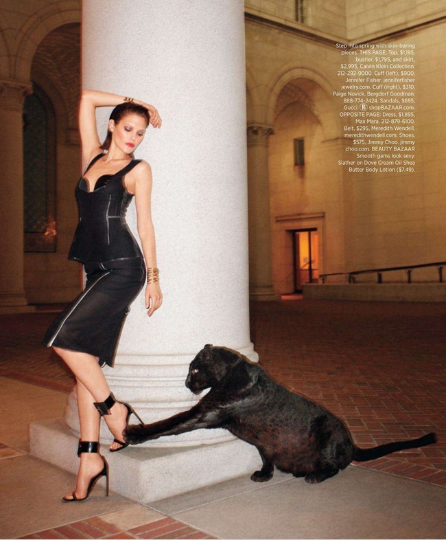 HARPER'S BAZAAR MAGAZINE- Catherine McNeil in Black Brings Sexy Back by Terry Richardson. Clare Richardson, March 2013, www.imageamplified.com, Image Amplified (6)