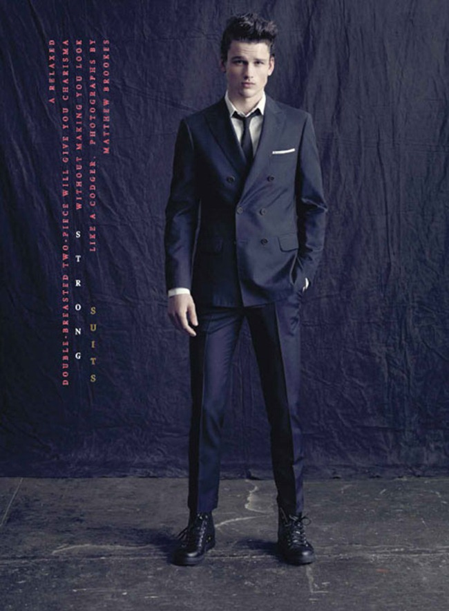 DETAILS MAGAZINE- Simon Nessman in Strong Suits by Matthew Brookes. March 2013, www.imageamplified.com, Image Amplified