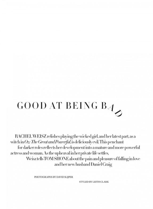 HARPER'S BAZAAR UK- Rachel Weisz in Good At Being Bad by David Slijper. Leith Clark, March 2013, www.imageamplified.com, Image Amplified (1)