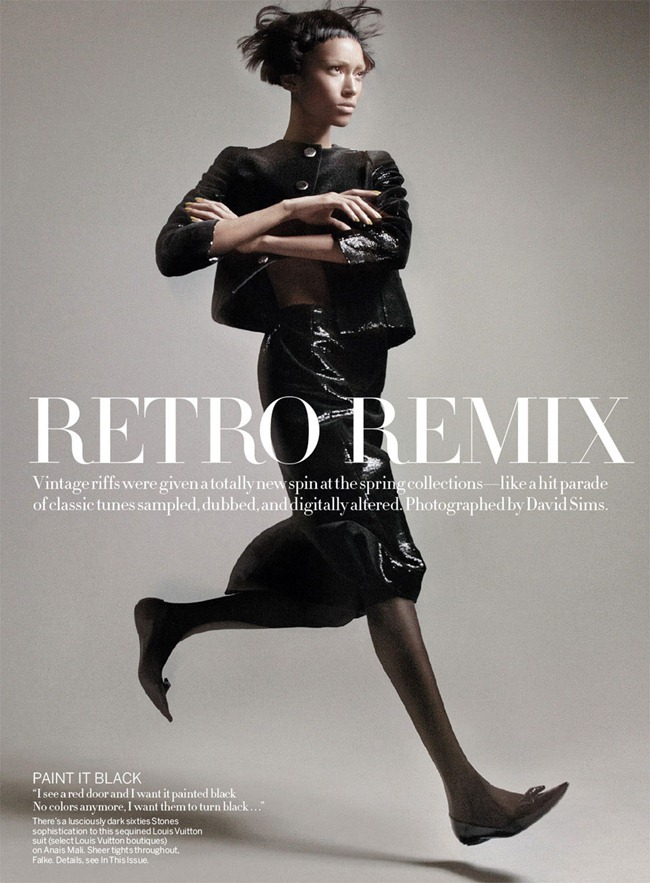 VOGUE MAGAZINE- Anais Mali & Edie Campbell in Retro Remix by David Sims. Grace Coddington, March 2013, www.imageamplified.com, Image Amplified