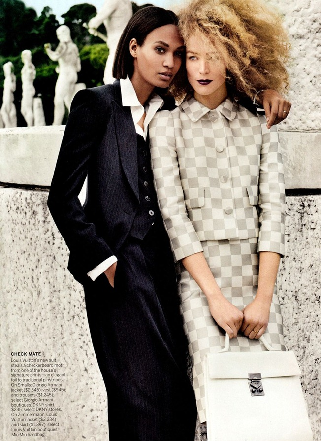 VOGUE MAGAZINE- Raquel Zimmermann & Joan Smalls in To Rome With Love by Mario Testino. Tonne Goodman, March 2013, www.imageamplified.com, Image Amplified (3)