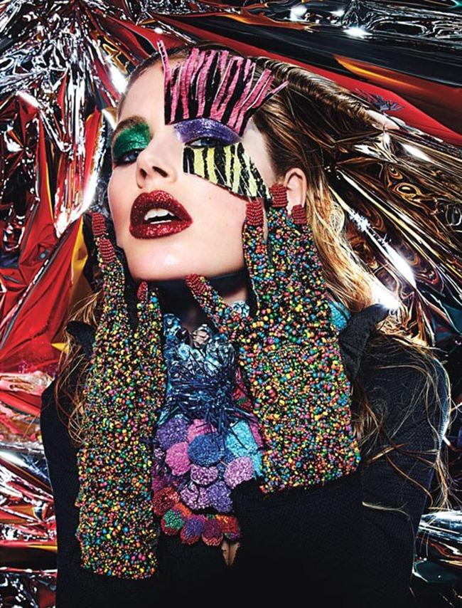 W MAGAZINE- Aymeline Valade, Caroline Brasch Nielsen, Doutzen Kroes & Nadja Bender in Rave New World by Mario Sorrenti. Panos Yiapanis, March 2013, www.imageamplified.com, Image Amplified (4)