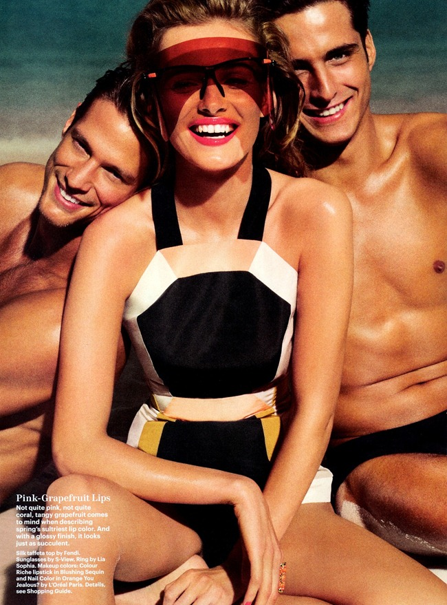 ALLURE MAGAZINE- Edita Vilkeviciute, Janice Fronimakis & Domenique Melchior in Sun Burst by Tom Munro. Paul Cavaco, March 2013, www.imageamplified.com, Image Amplified (4)