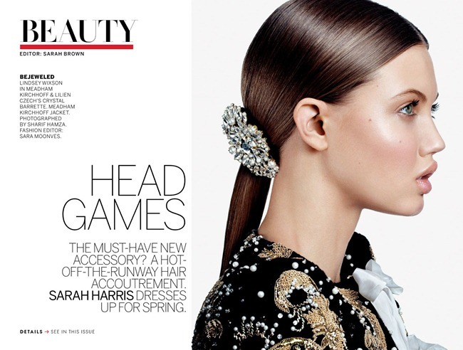VOGUE MAGAZINE- Lindsey Wixson in Head Games by Sharif Hamza. Sara Moonves, March 2013, www.imageamplified.com, Image Amplified (1)