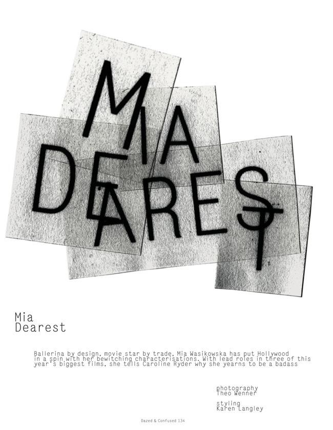 DAZED & CONFUSED MAGAZINE- Mia Wasikowska in Mia Dearest by Theo Wenner. Karen Langley, March 2013, www.imageamplified.com, Image Amplified (1)