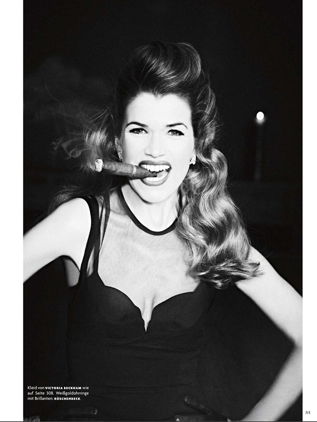VOGUE GERMANY- Anke Engelke in Anke Unchained by Ellen von Unwerth. Christiane Arp, March 2013, www.imageamplified.com, Image Amplified (2)