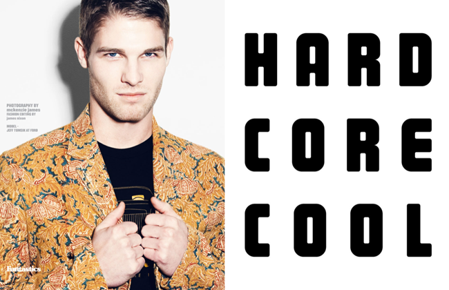 FANTASTICSMAG- Jeff Timsik in Hard Core Cool by McKenzie James. Spring 2013, James Nixon, www.imageamplified.com, Image Amplified