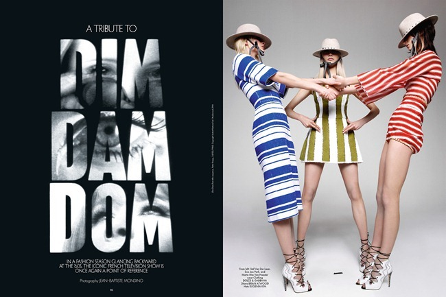 CR FASHION BOOK- A Tribute to Dim Dam Dom by Jean-Baptiste Mondino. Spring 2013, www.imageamplified.com, Image Amplified