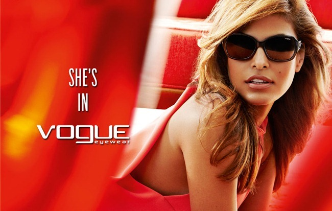 CAMPAIGN- Eva Mendes & for Vogue Eyewear Spring 2013 by Mario Testino. www.imageamplified.com, image Amplified