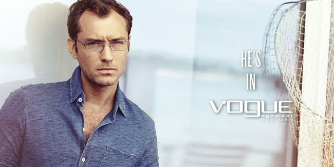 CAMPAIGN- Jude Law for Vogue Eyewear Spring 2013 by Peter Lindbergh. www.imageamplified.com, image Amplified