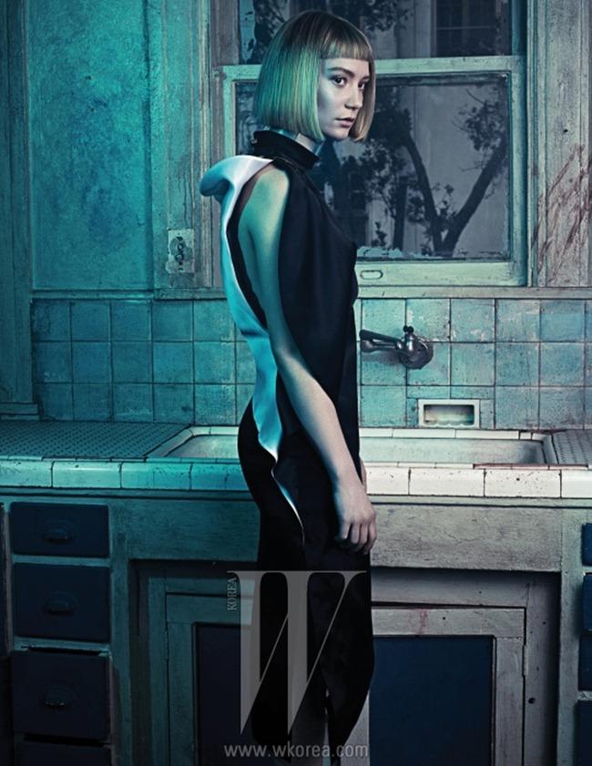 W KOREA- Mia Wasikowska & Park Chan Wook in Beautiful Monster by Hong Chang Hyun. March 2013, www.imageamplified.com, Image Amplified (3)