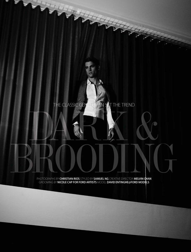 AUGUST MAG MAGAZINE- David Entinghe in Dark & Brooding by Christian Rios. Samuel Ng, March 2013, www.imageamplified.com, Image Amplified