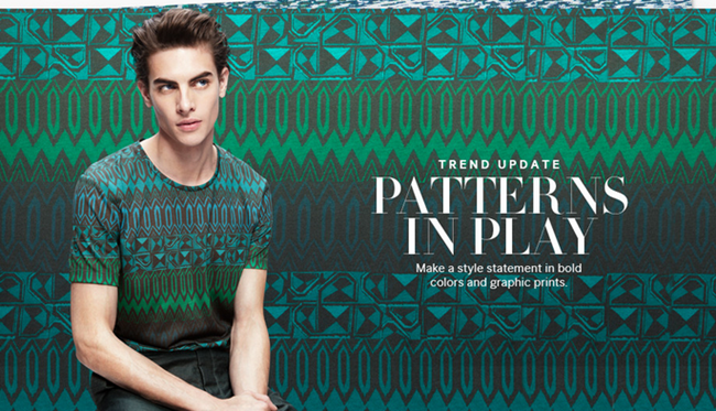 CAMPAIGN- Russell Giardana in Patterns IN Play for H&M Spring 2013. www.imageamplified.com, Image Amplified