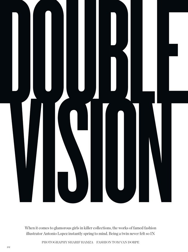 V MAGAZINE- Double Vision by Sharif Hamza. Tom Van Dorpe, Spring 2013, www.imageamplified.com, Image Amplified
