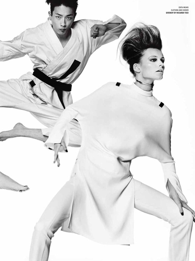 V MAGAZINE- Edita Vilkeviciute, Bianca Balti, Liu Wen & Sung Jin Park in Asia Major by Mario Testino. Sarajane Hoare, Spring 2013, www.imageamplified.com, Image Amplified (9)