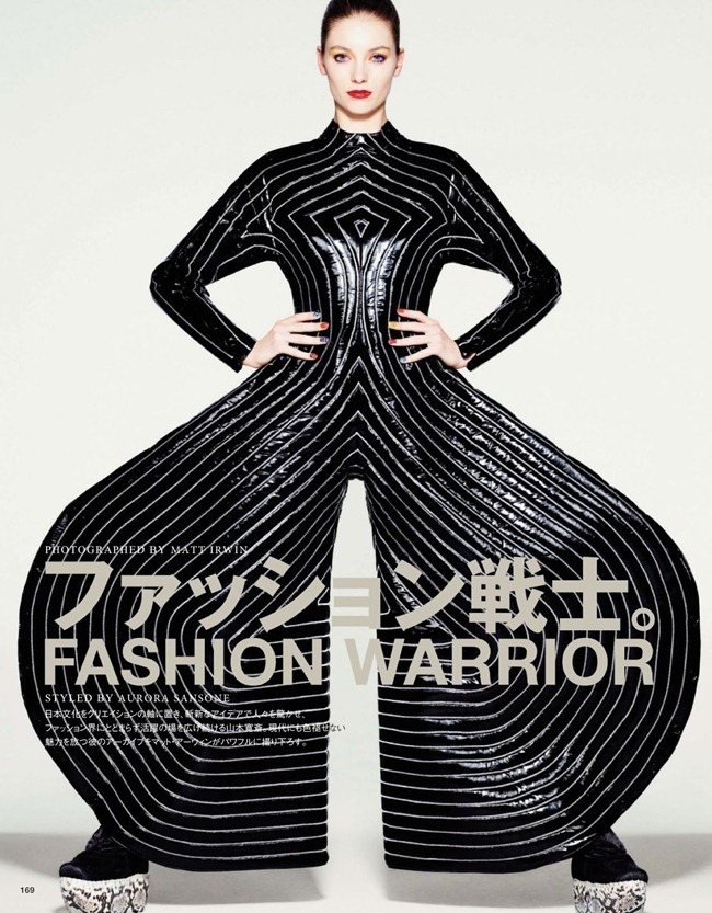VOGUE JAPAN- Iris van Berne in Fashion Warrior by Matt Irwin. Aurora Sansone, April 2013, www.imageamplified.com, Image Amplified