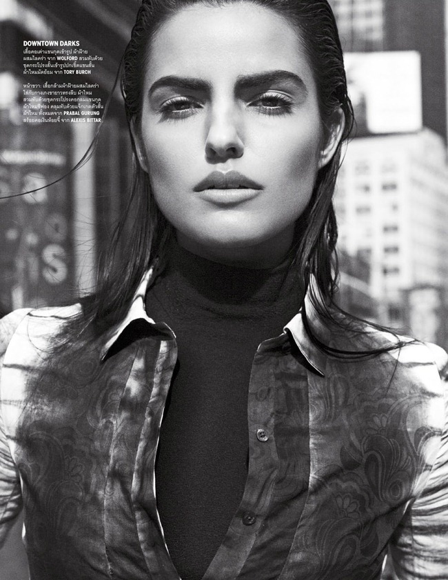 VOGUE THAILAND- Liza Golden in Midtown Monotones by Simon Cave. Morgan Pilcher, March 2013, www.imageamplified.com, Image Amplified (1)