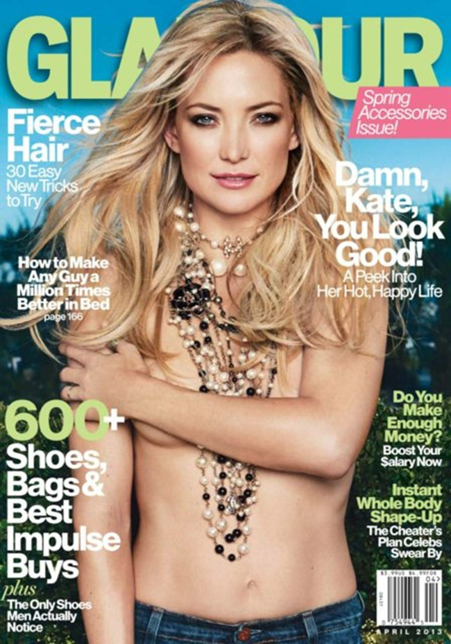GLAMOUR MAGAZINE- Kate Hudson by Patrick Demarchelier. April 2013, www.imageamplified.com, Image Amplified