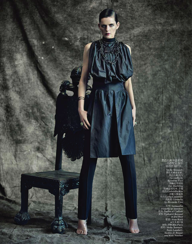 VOGUE CHINA- Saskia de Brauw, Stella Tennant, Kati Nescher & Yumi Lambert in The Charm of Diversity by Paolo Roversi. Nicoletta Santoro, April 2013, www.imageamplified.com, Image Amplified (1)