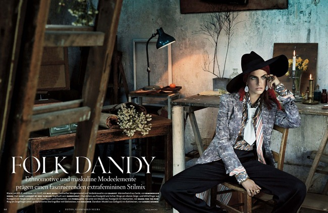 VOGUE GERMANY- Karlina Caune in Folk Dandy by Giampaolo Sgura. Christiane Arp, May 2013, www.imageamplified.com, Image Amplified
