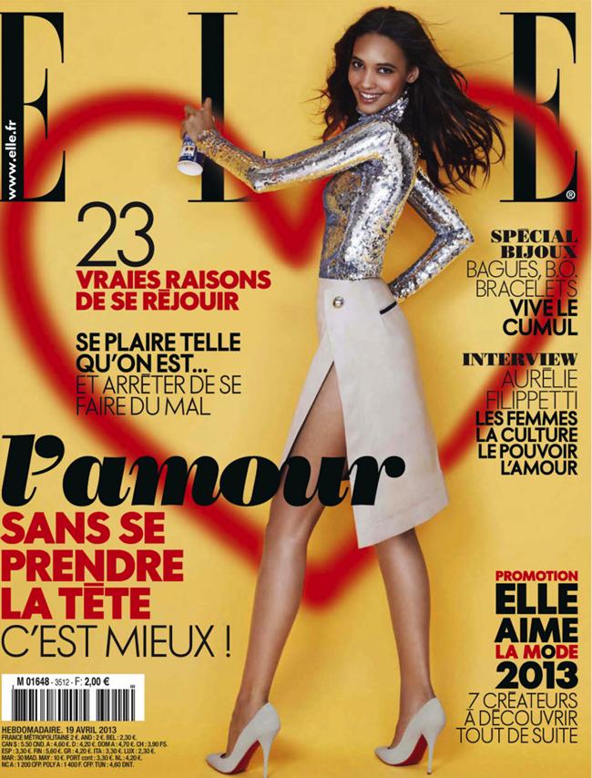 ELLE FRANCE- Cora Emmanuel in Elle Aime La Mode by Simon Burstall. Chloe Dugast, April 2013, www.imageamplified.com, Image Amplified