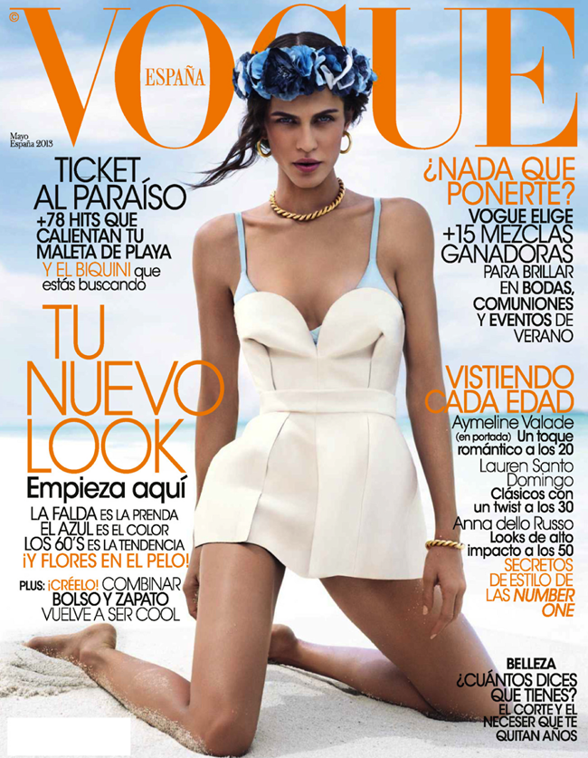 VOGUE SPAIN- Aymeline Valade in Ave del Paraiso by Miguel Reveriego. Belen Antolin, May 2013, www.imageamplified.com, Image Amplified