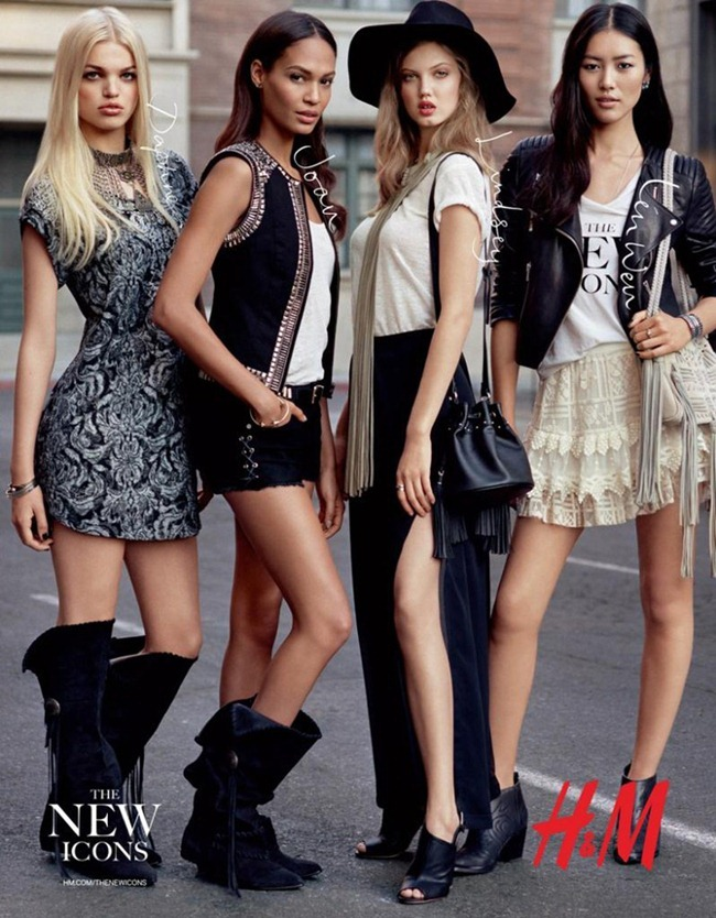 CAMPAIGN- Daphne Groenveld, Joan Smalls, Lindsey Wixson & Liu Wen for H&M The New Icons 2013 by Alasdair LcLellan. www.imageamplified.com, Image Amplified