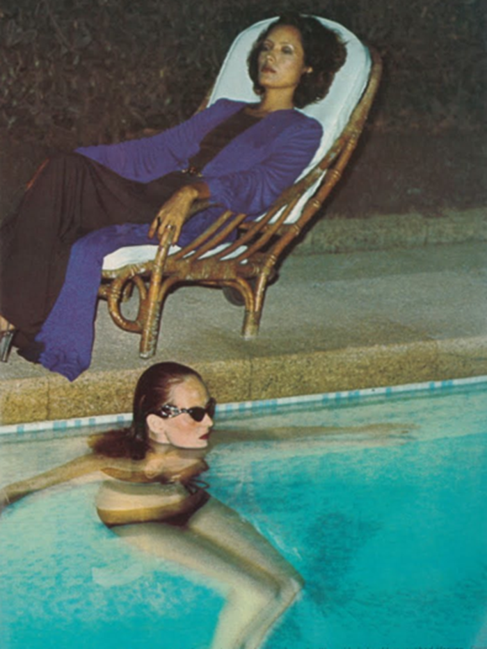 WE ♥ GRACE CODDINGTON- Grace Coddington in Pool, 1973 by Helmut Newton. www.imageampilfied.com, Image Amplified (1)