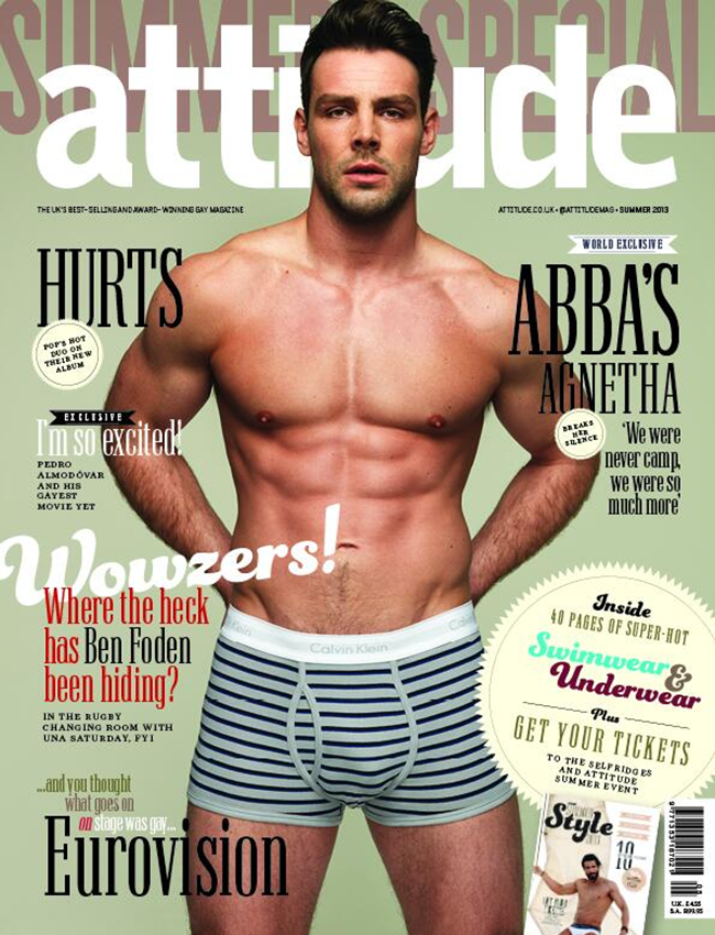 ATTITUDE MAGAZINE- Ben Foden by Joseph Sinclair. Summer 2013, www.imageamplified.com, Image Amplified