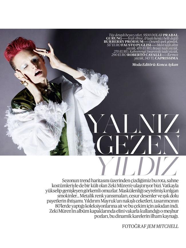 VOGUE TURKEY- Hanne Gaby Odiele in Yalzin Cezen Yildiz by Jem Mitchell. Konca Aykan, May 2013, www.imageamplified.com, Image Amplified