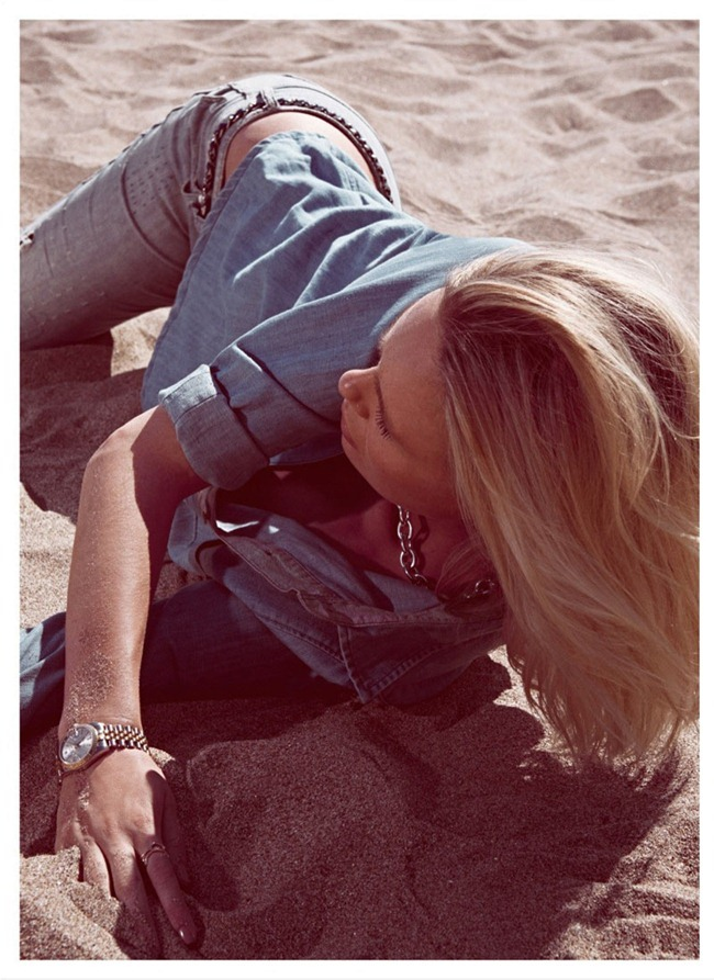 GRAZIA SPAIN- Dewi Driegen in  Fiebre Denim by Koray Birand. Marina Gallo,