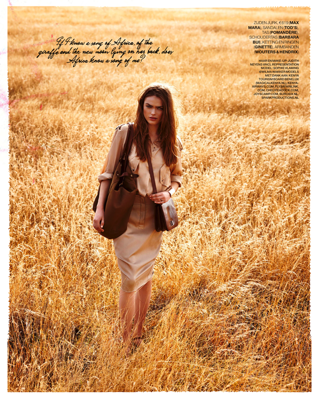 MARIE CLAIRE NETHERLANDS- Sophie Vlaming in Out of Africa by Hans van Brakel. Simone Dernee, June 2013, www.imageamplified.co, Image Amplified (9)