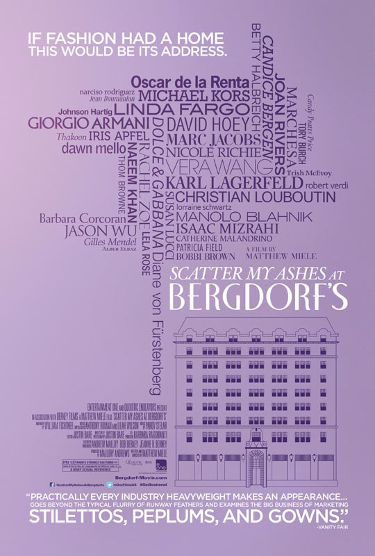 CINEMA SCAPE: Scatter My Ashes At Bergdorf's by Matthew Miele. In Theaters May 3, 2013