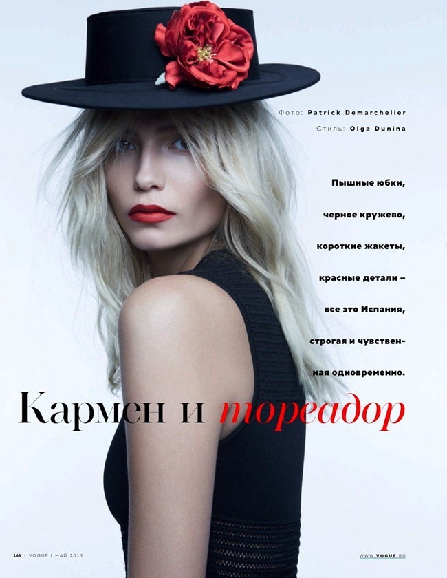 VOGUE RUSSIA- Natasha Poly in Carmen and Torero by Patrick Demarchelier. Olga Dunina, May 2013, www.imageamplified.com, Image Amplified (1)