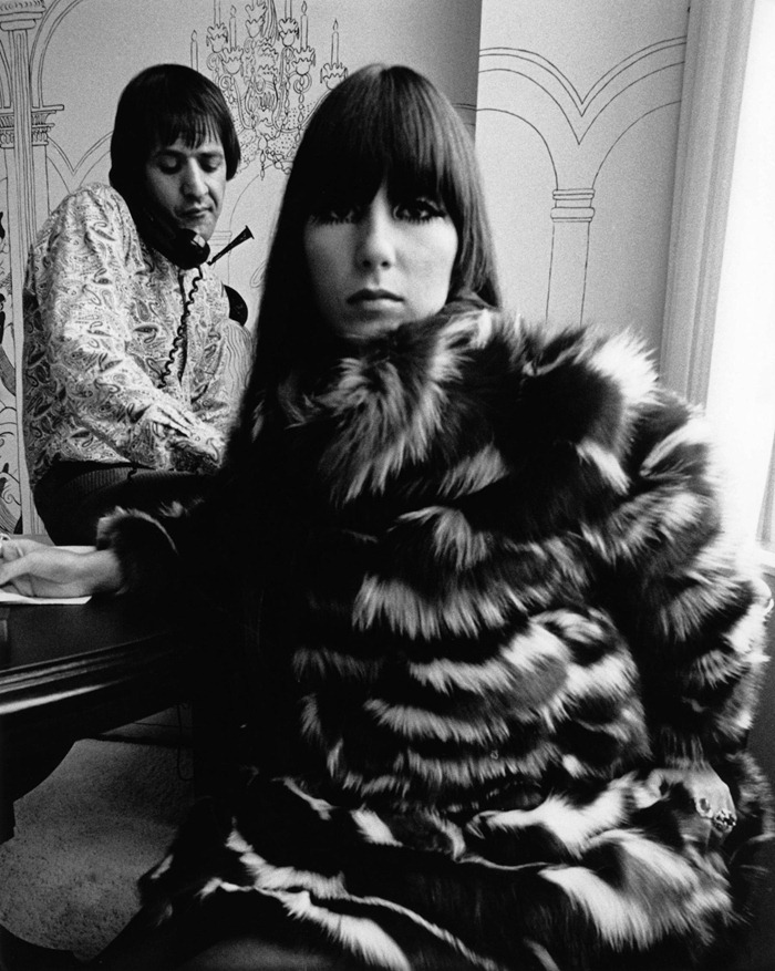 WE ♥ CHER- Sonny & Cher for Vogue, 1967 by Bob Willoughby. www.imageampilfied.com, Image Amplified (2)