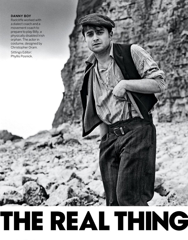 VOGUE MAGAZINE- Daniel Radcliffe in The Real Thing by Anton Corbijn. June 2013, www.imageamplified.com, Image Amplified