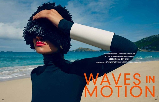 VOGUE JAPAN- Magdalena Langrova in Waves In Motion by Patrick Demarchelier. Carlyne Cerf De Dudzeele, July 2013, www.imageamplified.com, Image Amplified