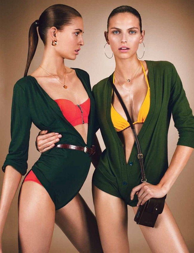 W MAGAZINE- Nadja Bender & Karlina Caune in BAthing Beauties by Emma Summerton. Sarah Richardson, July 2013, www.imageamplified.com, Image Amplified (4)
