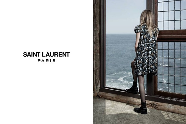 CAMPAIGN- Cara Delevigne & Cole Smith for Saint Laurent Fall 2013 by Hedi Slimane. www.imageamplified.com, Image Amplified