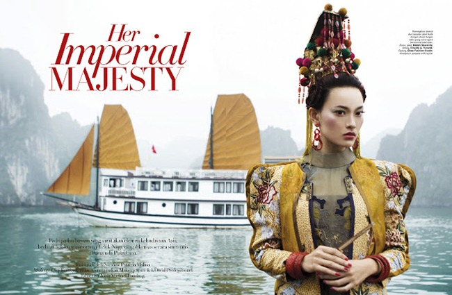 HARPER'S BAZAAR INDONESIA- Dara Warganegara in Her Imperial Majesty by Nicoline Patricia Malina. Michael Pondaag, www.imageamplified.com, Image Amplified (1)
