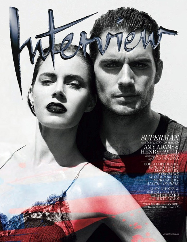 PREVIEW Henry Cavil & Amy Adams for Interview Magazine, Summer 2013. www.imageamplified.com, Image Amplified (1)