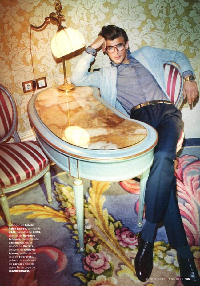 ESQUIRE SPAIN Patrick Kafka in Blue Hotel by Marcin Tyszka. June 2013, www.imageamplified.com, Image Amplified (2)
