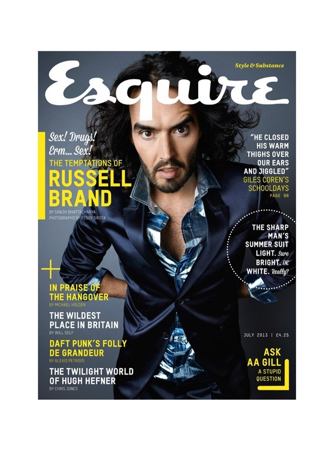 ESQUIRE UK Russell Brand by Peggy Sirota. July 2013, www.imageamplified.com, Image Amplified (1)