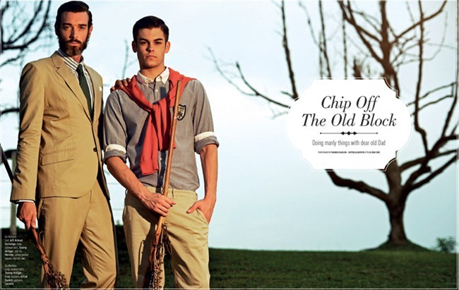 AUGUST MAN SINGAPORE Richard Biedul & Mathieu Maillard in chip Off the Old Block by Ivanho Harlim & Shysilia Novita. Ben Chin, www.imageamplified.com, Image Amplified (1)