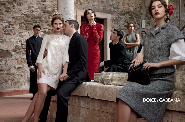 CAMPAIGN- Andreea Diaconu, Bianca Balti, Kate King & Monica Bellucci for Dolce & Gabbana Fall 2013 by Domenico Dolce. www.imageamplified.com, Image Amplified (4)