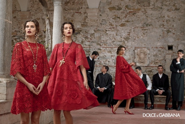 CAMPAIGN- Andreea Diaconu, Bianca Balti, Kate King & Monica Bellucci for Dolce & Gabbana Fall 2013 by Domenico Dolce. www.imageamplified.com, Image Amplified (6)