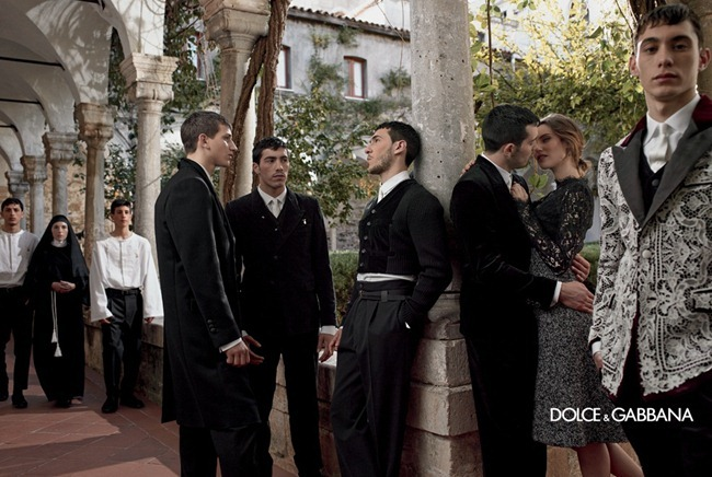 CAMPAIGN- Bianca Balti & Monica Bellucci for Dolce & Gabbana Menswear Fall 2013 by Domenico Dolce. www.imageamplified.com, Image Amplified (3)