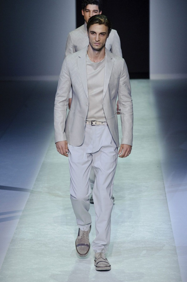 MILAN FASHION WEEK Emporio Armani Men's RTW Spring 2014. www.imageamplified.com, Image Amplified (50)